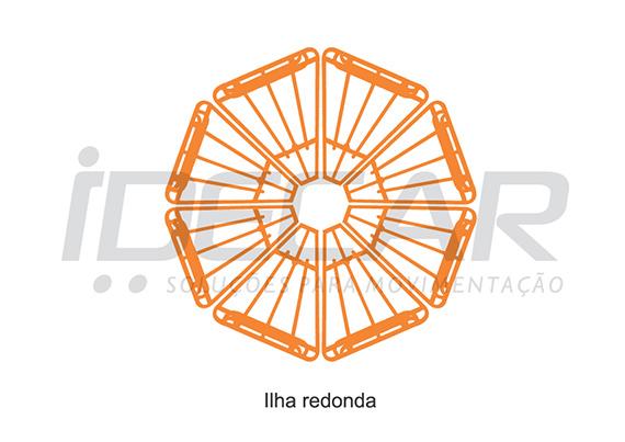 EXPOSITOR CANTO/ILHA PARA FLV (FRUTAS, LEGUMES E VERDURAS)