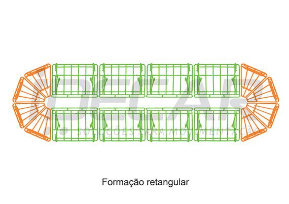 EXPOSITOR RETO PARA FLV (FRUTAS, LEGUMES E VERDURAS)